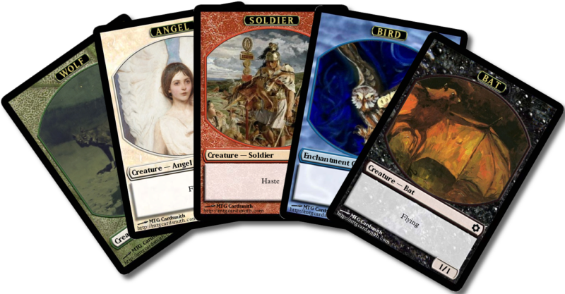 image regarding Printable Mtg Tokens identified as A few of hints for your personalized MTG tokens
